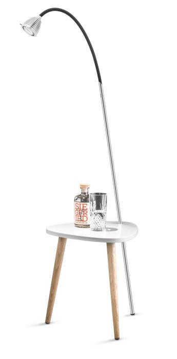 Less'n'more Ringelnatz Athene Tisch RI-A Aluminium, flexibler Arm Textil anthrazit