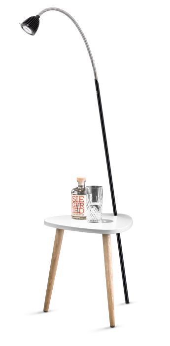Less'n'more Ringelnatz Athene Tisch RI-A schwarz, flexibler Arm Aluminium