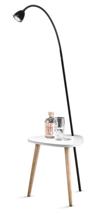 Less'n'more Ringelnatz Athene Tisch RI-A schwarz, flexibler Arm Textil anthrazit