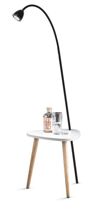 Less'n'more Ringelnatz Athene Tisch RI-A schwarz, flexibler Arm Textil schwarz