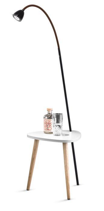 Less'n'more Ringelnatz Athene Tisch RI-A schwarz, flexibler Arm Textil braun