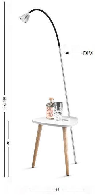 Less'n'more Ringelnatz Athene Tisch RI-A Grafik