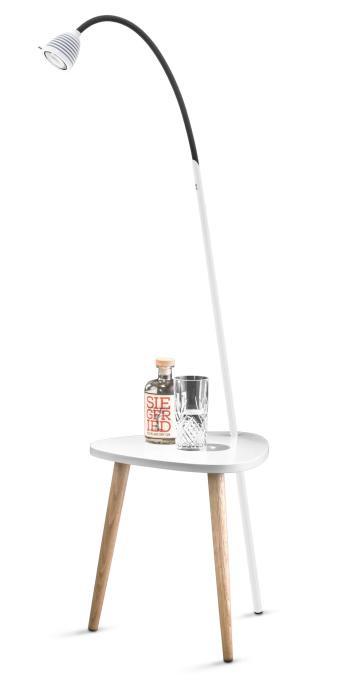 Less'n'more Ringelnatz Athene Tisch RI-A weiß, flexibler Arm Textil anthrazit