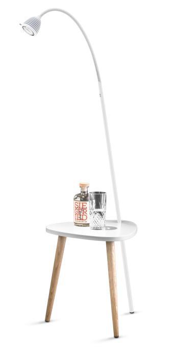 Less'n'more Ringelnatz Athene Tisch RI-A weiß, flexibler Arm Textil weiß