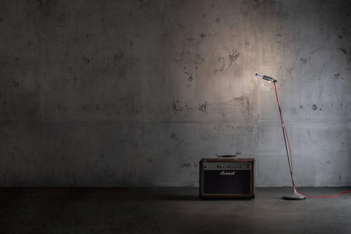 Less'n'more Stereo-SL Aluminium, Leuchtenfuß grau
