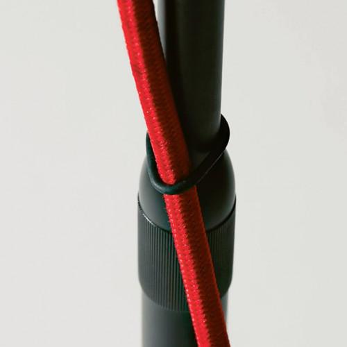 Less'n'more Stereo-SL Leuchtenköpfe schwarz mit rotem Kabel