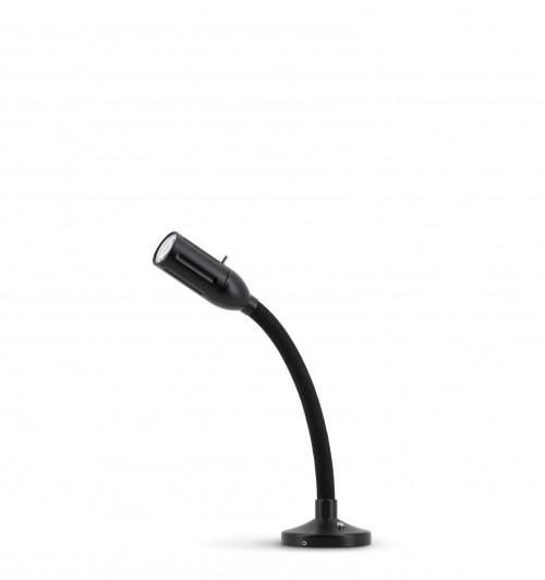 Less'n'more Zeus Aufbau- / Einbauleuchte Z-AL1 schwarz, flexibler Arm Textil schwarz