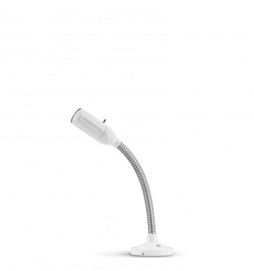Less'n'more Zeus Aufbau- / Einbauleuchte Z-AL1 weiß, flexibler Arm Aluminium