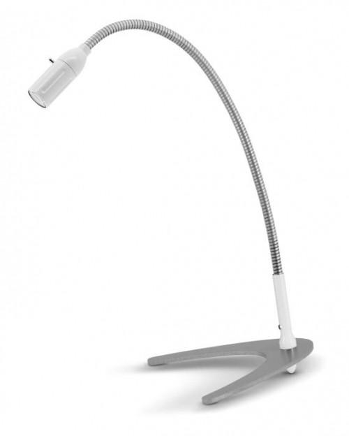 Less'n'more Zeus Tischleuchte Z-TL weiß, flexibler Arm Aluminium