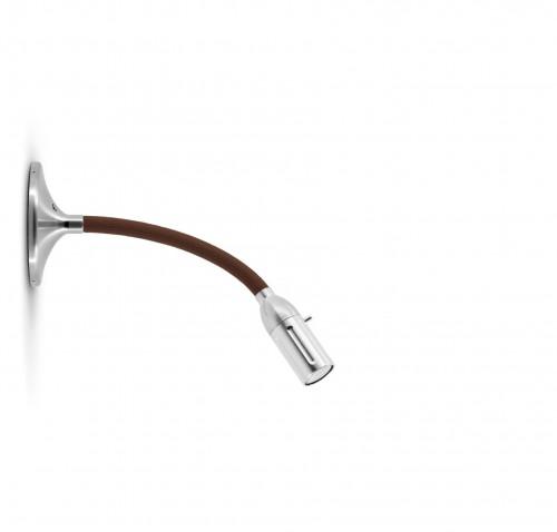 Less'n'more Zeus Wand- / Deckenleuchte Z-MDL1 Aluminium, flexibler Arm Textil braun