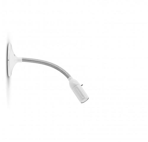 Less'n'more Zeus Wand- / Deckenleuchte Z-MDL1 weiß, flexibler Arm Aluminium