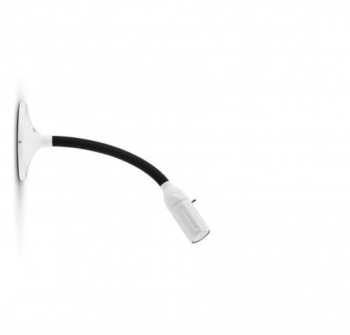 Less'n'more Zeus Wand- / Deckenleuchte Z-MDL1 weiß, flexibler Arm Textil schwarz