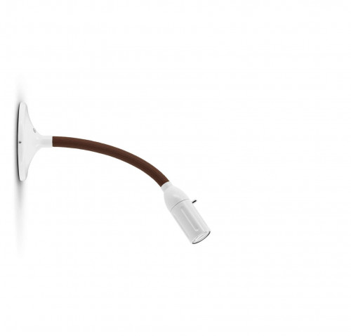 Less'n'more Zeus Wand- / Deckenleuchte Z-MDL1 weiß, flexibler Arm Textil braun