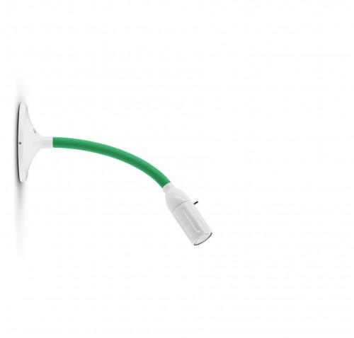 Less'n'more Zeus Wand- / Deckenleuchte Z-MDL1 weiß, flexibler Arm Textil grün