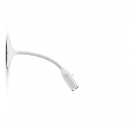 Less'n'more Zeus Wand- / Deckenleuchte Z-MDL1 weiß, flexibler Arm Textil weiß