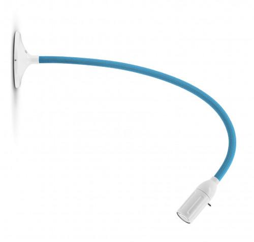 Less'n'more Zeus Wand- / Deckenleuchte Z-MDL2 weiß, flexibler Arm Textil blau