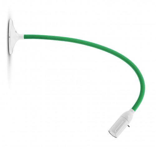 Less'n'more Zeus Wand- / Deckenleuchte Z-MDL2 weiß, flexibler Arm Textil grün