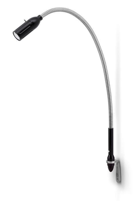 Less'n'more Zeus Wandleuchte Z-WL schwarz, flexibler Arm Aluminium