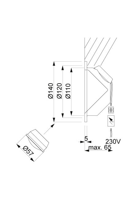 Less'n'more Mimix Beton Unterbaustrahler Grafik