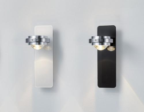 Licht im Raum Ocular Wandleuchte Glas Niedervolt weiß und anthrazit