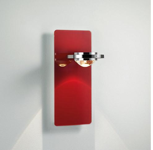 Licht im Raum Ocular Wandleuchte Glas Serie 100 Niedervolt rot