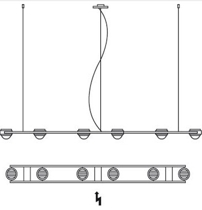 Licht im Raum Ocular 6 LED Grafik