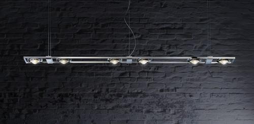 Licht im Raum Ocular 6 LED Serie 100 Edelstahl gebürstet