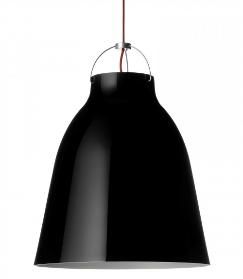 Lightyears Caravaggio P2 schwarz glänzend mit rotem Kabel