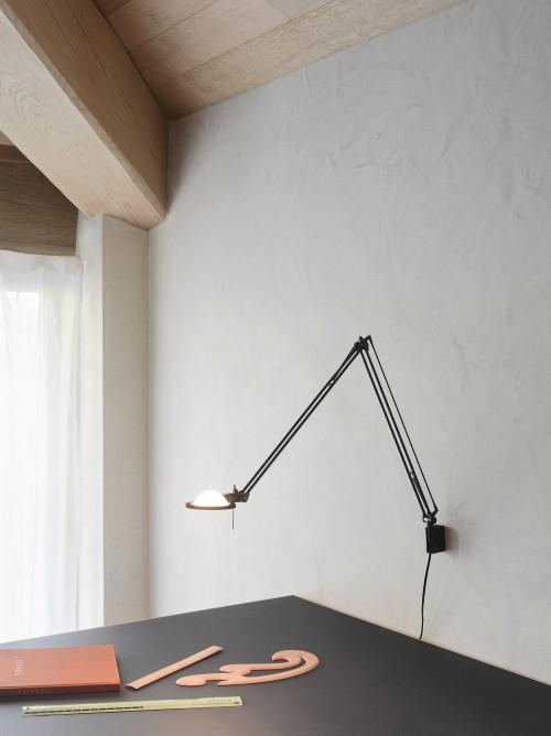 Luceplan Berenice Parete Piccola schwarz Reflektor weiß