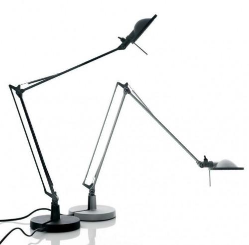 Luceplan Berenice Tavolo Piccola schwarz Reflektor schwarz und Alu Reflektor weiß