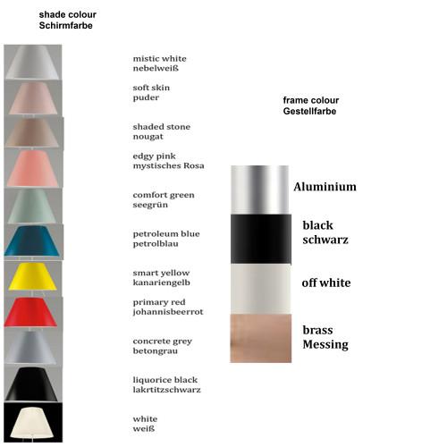 Luceplan Costanzina Tischleuchte Farbtafel