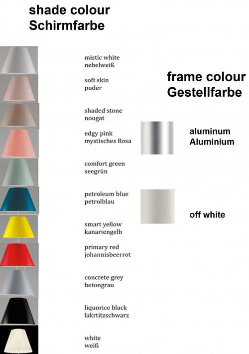 Luceplan Costanza Tischleuchte Fix Farbtafel