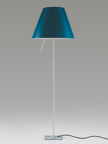 Luceplan Costanza Stehleuchte blau Gestell Alu