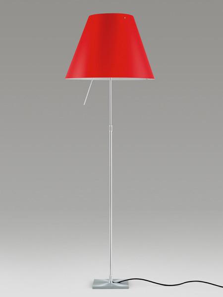 Luceplan Costanza Stehleuchte rot Gestell Alu