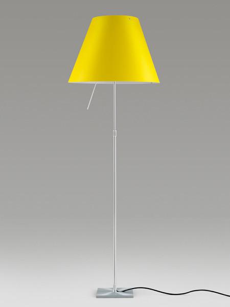 Luceplan Costanza Stehleuchte gelb Gestell Alu
