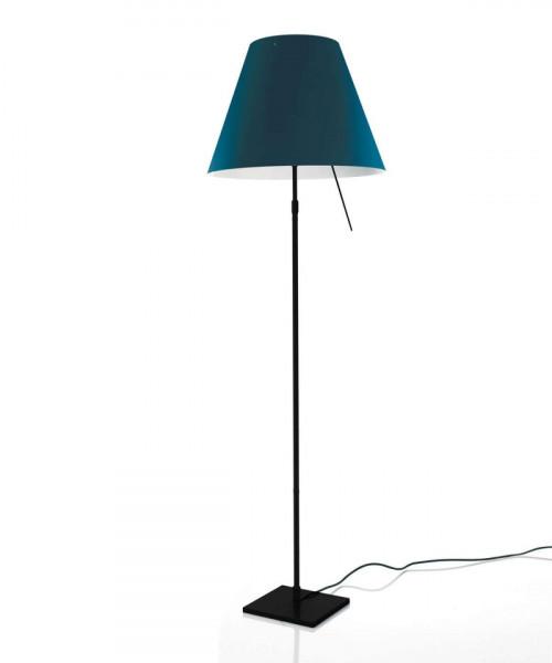 Luceplan Costanza Stehleuchte blau Gestell schwarz