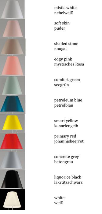Luceplan Costanza Tischleuchte Befestigungsstift Farbtafel