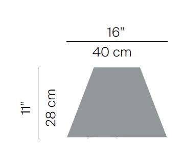Luceplan Costanza Schirm Grafik