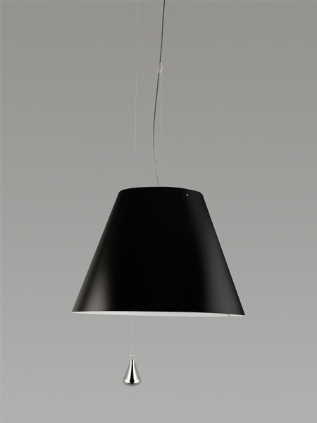 Luceplan Costanza Pendelleuchte Gegengewicht schwarz