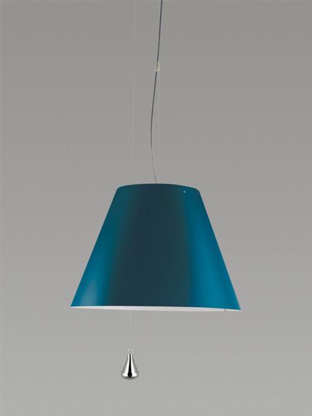 Luceplan Costanza Pendelleuchte Gegengewicht blau