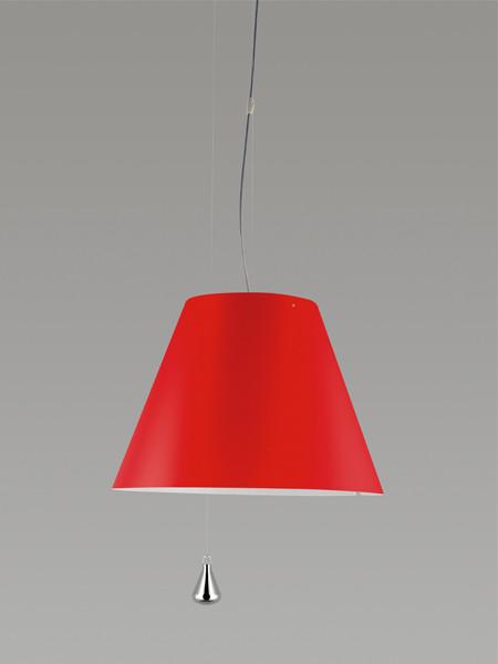 Luceplan Costanza Pendelleuchte Gegengewicht rot