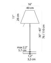 Luceplan Costanza Tischleuchte Befestigungsstift Grafik