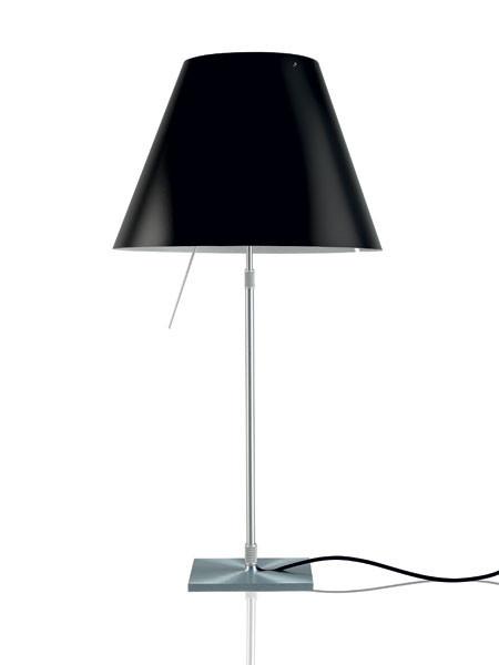 Luceplan Costanza Tischleuchte schwarz Gestell Alu