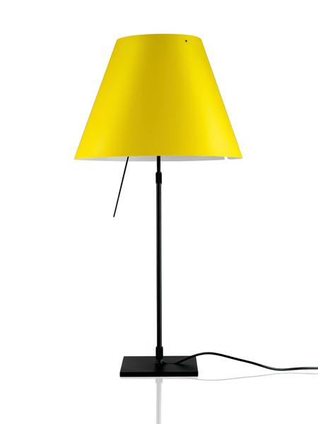 Luceplan Costanza Tischleuchte gelb Gestell schwarz