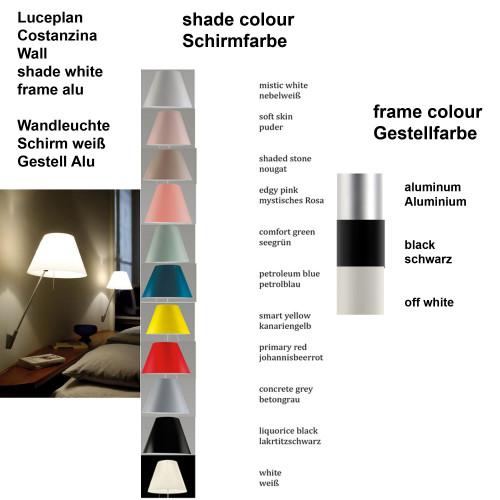 Luceplan Costanzina Wandleuchte Farben