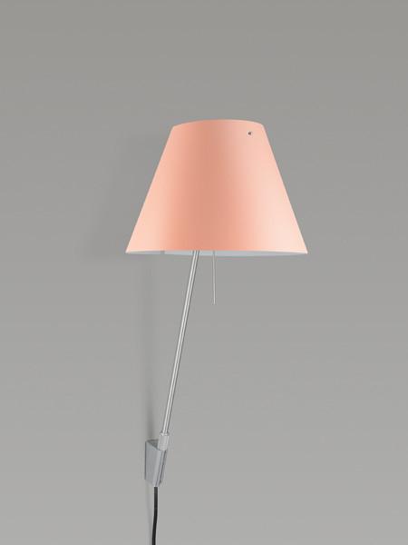Luceplan Costanzina Wandleuchte Schirm rosa Gestell Alu