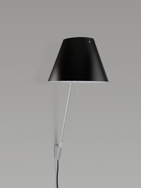 Luceplan Costanzina Wandleuchte Schirm schwarz Gestell Alu