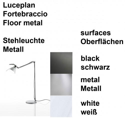 Luceplan Fortebraccio Stehleuchte Oberflächen
