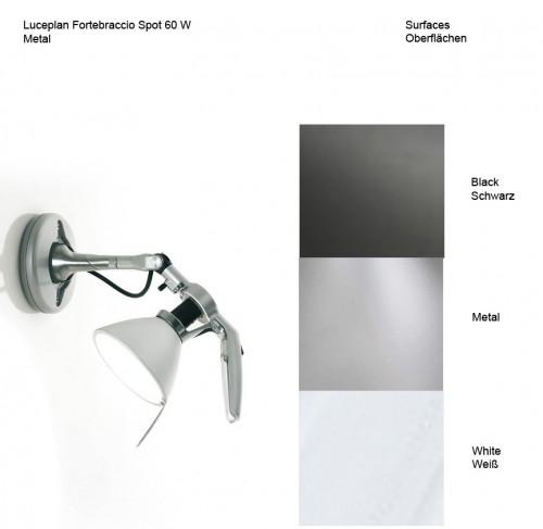 Luceplan Fortebraccio Spot 60 W Oberflächen