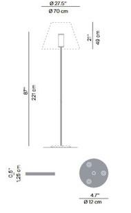 Luceplan Grande Costanza Open Air Montageplatte Grafik